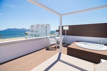 Deluxe Apartment, 1 Bedroom, Terrace, Sea View