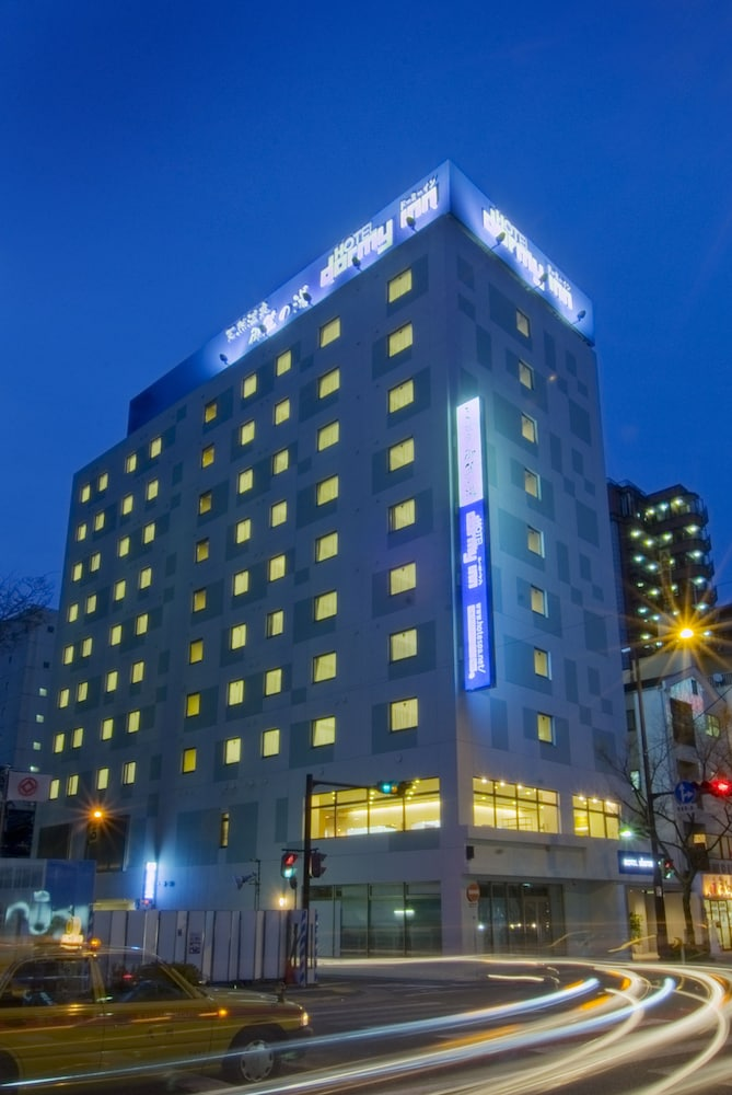 도미 인 하카타 기온 내추럴 핫 스프링(Dormy Inn Hakata Gion Natural Hot Spring) Hotel Image 3 - Hotel Front - Evening/Night