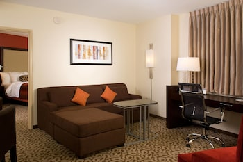 Guestroom at Residence Inn Fairfax City in Fairfax