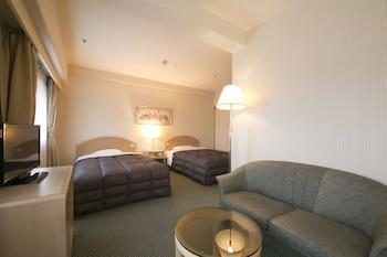 デラックス ツインルーム 2 ベッドルーム 喫煙可|29㎡|鳥取ワシントンホテルプラザ