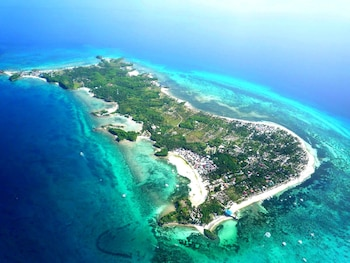 Slam's Garden Resort Malapascua Aerial View