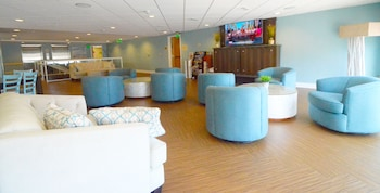 Lobby Lounge at Crystal Beach Hotel in Ocean City
