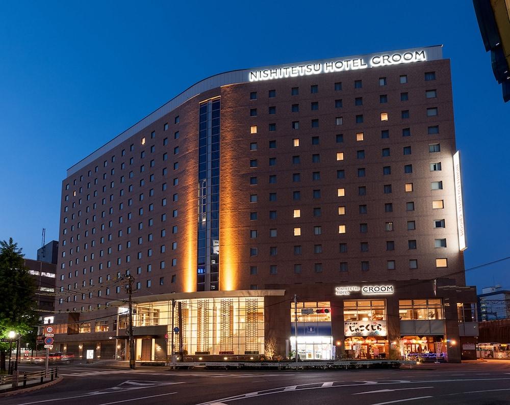 니시테쓰 호텔 크룸 하카타(Nishitetsu Hotel Croom Hakata) Hotel Image 69 - Hotel Front - Evening/Night
