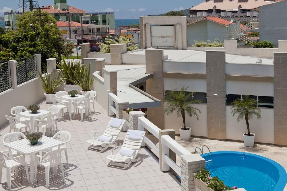 호텔 게라니우스 프라이아 두스 잉글레지스(Hotel Geranius Praia dos Ingleses) Hotel Image 28 - Terrace/Patio