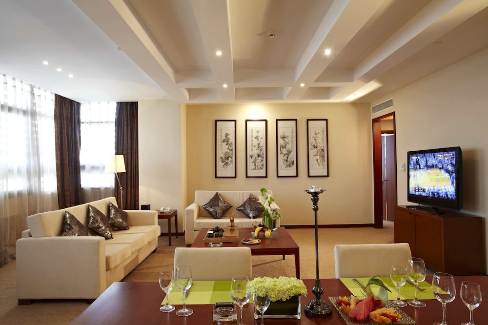 시안 지아오통 리버풀 인터내셔널 컨퍼런스 센터(Xi'an Jiaotong Liverpool International Conference Center) Hotel Thumbnail Image 7 - Living Area