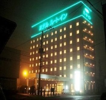 호텔 루트 인 오다테 에키 미나미(Hotel Route-Inn Odate Eki Minami) Hotel Image 31 - Hotel Front - Evening/Night