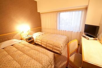 ツインルームシングルサイズベッド 2 台禁煙|15㎡|富山マンテンホテル
