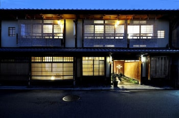 TRADITIONAL KYOTO INN SERVING KYOTO CUISINE IZUYASU Front of Property - Evening/Night