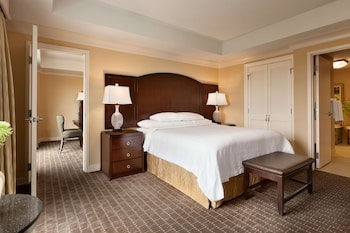 Suite, 1 King Bed with Sofa bed, Accessible, Corner (Hearing)