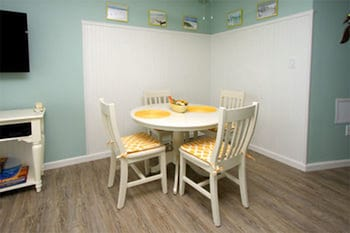 In-Room Dining at Carolina Reef by Elliott Beach Rentals in North Myrtle Beach