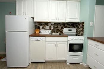 In-Room Kitchenette at Carolina Reef by Elliott Beach Rentals in North Myrtle Beach
