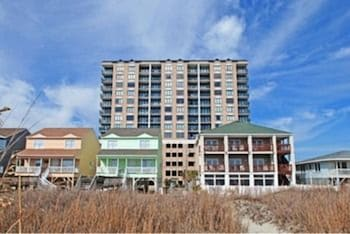 Exterior detail at Beachwalk Villas by Elliott Beach Rentals in North Myrtle Beach