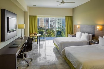 Partial Ocean View, Two Double Beds Room
