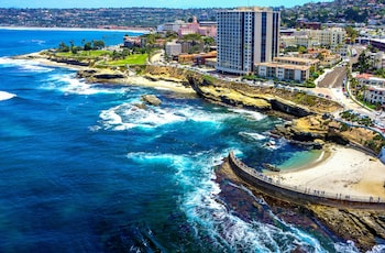 Aerial View at Pacific View Inn in San Diego