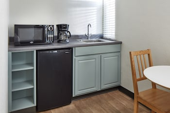 In-Room Kitchenette at Pacific View Inn in San Diego