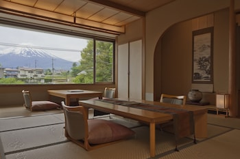 Japanese Western Room with Mt. Fuji View Private Bath, Smoking (Annex Build.)