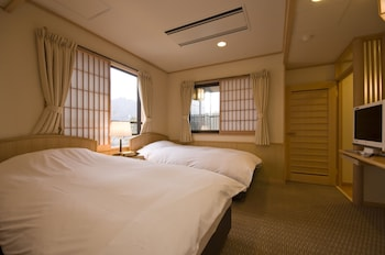 Japanese Western Room with Open Air Bath, Smoking, Mt. Fuji View (Main Build.)