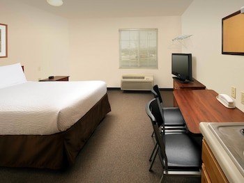 Guestroom at WoodSpring Suites Washington DC Andrews AFB in Camp Springs