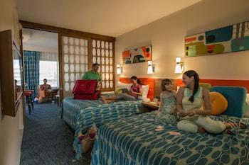 Guestroom at Universal's Cabana Bay Beach Resort in Orlando