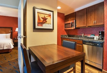 In-Room Kitchen at Homewood Suites by Hilton Fort Worth - Medical Center, TX in Fort Worth
