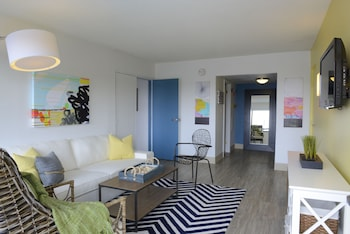 Living Room at Beach House Dewey in Dewey Beach