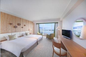 スーペリア ツインルーム [シングルベッド 2 台] 禁煙 - レイクビュー (33平米)|琵琶湖ホテル