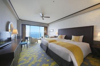 デラックス ツインルーム シングルベッド 2 台 禁煙 レイクビュー 40平米|40㎡|琵琶湖ホテル