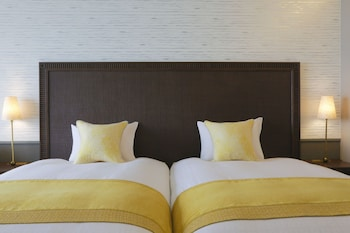 デラックス ツインルーム [シングルベッド 2 台] 禁煙 - レイクビュー (33平米)|琵琶湖ホテル