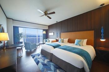 ラグジュアリー ツインルーム [ツインベッド2台] 禁煙 - レイクビュー (40平米)|40㎡|琵琶湖ホテル