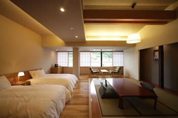 和洋室ツインルーム-山の見えるお部屋 禁煙【49㎡】|41㎡|蔵宿いろは