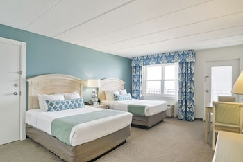 Dunes Manor Hotel - Room, 2 Queen Beds, Oceanfront