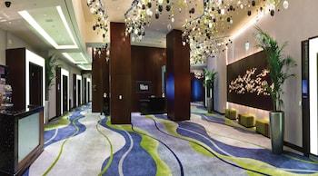 Lobby at Jet Luxury at the Vdara Condo Hotel in Las Vegas