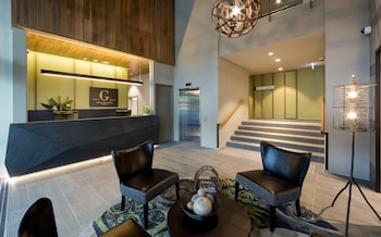 Lobby Lounge at The Glen Hotel & Suites in Eight Mile Plains