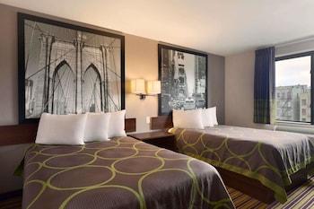 Guestroom at Super 8 by Wyndham Bronx in Bronx
