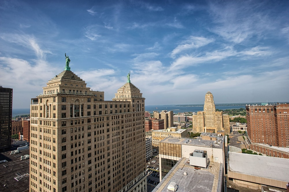Aerial photo of Hilton Garden Inn Buffalo Downtown in Buffalo, New York