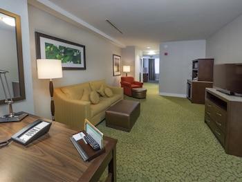 Deluxe Suite, 2 Queen Beds, Non Smoking, City View (2 Queen Beds & Sofa Bed)